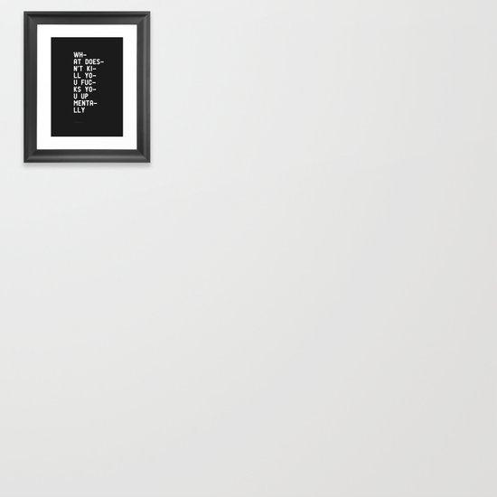 Mentally Framed Art Print