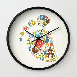Kid a trace Wall Clock
