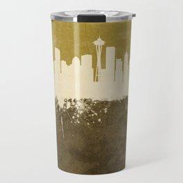 Seattle Washington Skyline Travel Mug