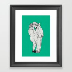 series-kiss Framed Art Print