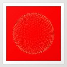 Fibo Orb Blood Art Print