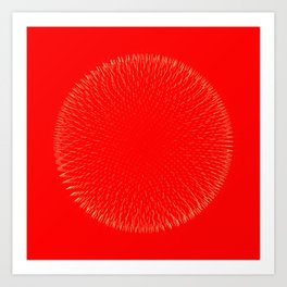 Fibo Orb Blood Art Print