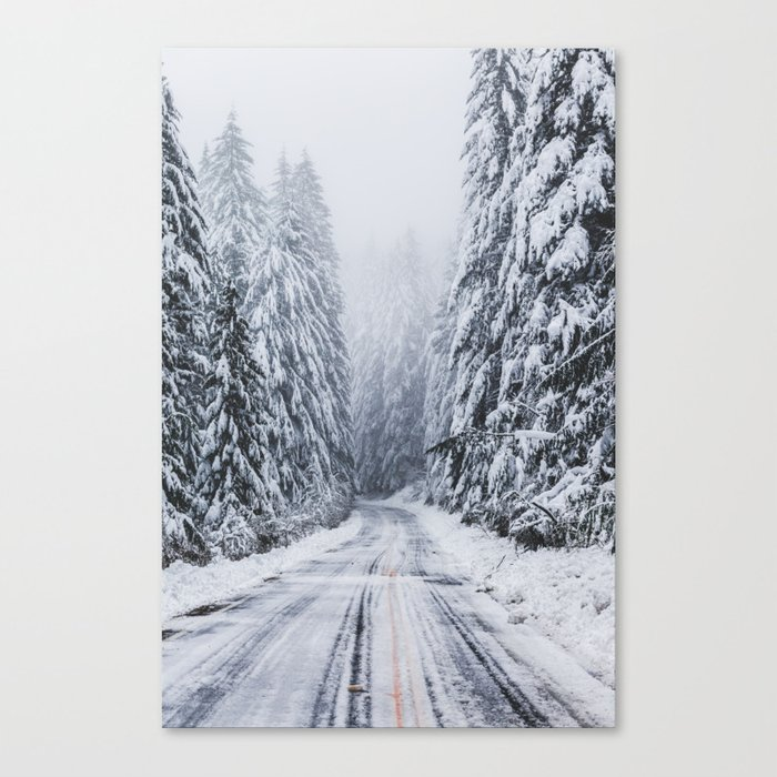 Snowy Oregon Forest Roads Canvas Print