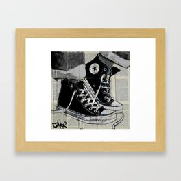 never a frown Framed Art Print