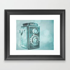 Teal Reflecta Framed Art Print