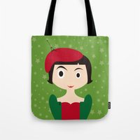 amelie Tote Bags featuring Amelie by Creo tu mundo