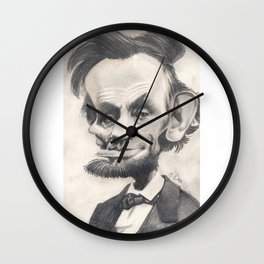 Abraham Lincoln, caricature. Wall Clock