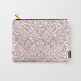 Rose Gold Marble Mandala Carry-All Pouch
