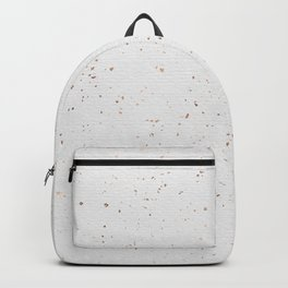 Modern chic white rose gold paper confetti Backpack