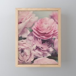 quiet ranunculus Framed Mini Art Print