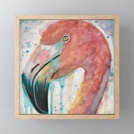 Flamingo watercolor art Flamingo pillow flamingo comforter flamingo decor flamingo curtain Framed Mini Art Print