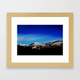 Breaking Dawn in the Canadian Rockies Framed Art Print
