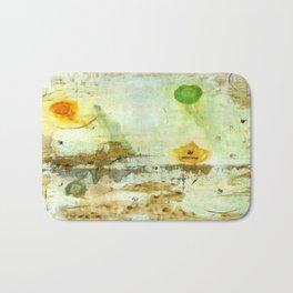 Drifting, Abstract Landscape Art Painting Bath Mat
