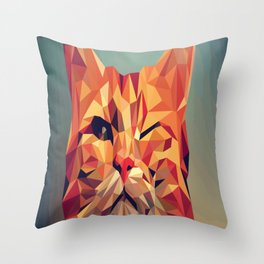 CAT Pop Art Throw Pillow