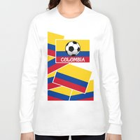 colombia Long Sleeve T-shirts featuring Colombia Football by mailboxdisco