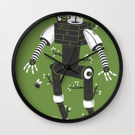 La herbe ex machina Wall Clock