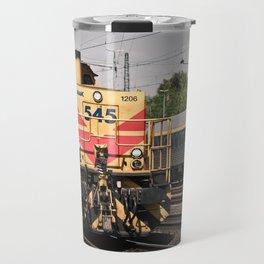 Locomotive at the Station Travel Mug