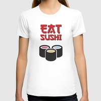sushi T-shirts featuring Sushi by flydesign