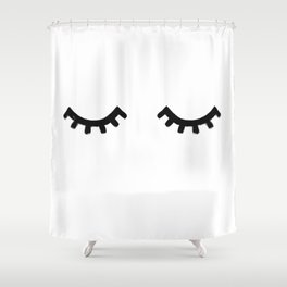 eyelashes Shower Curtain