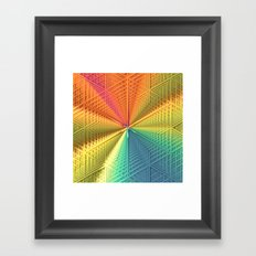 Color Centered Framed Art Print
