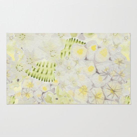 Lemon Abstract Rug