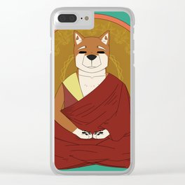 Dalai-Shiba Clear iPhone Case