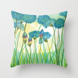 May your cornflowers never fade Throw Pillow