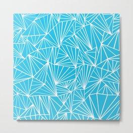 Ab Fan Electric Blue Metal Print