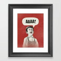 AAAA! Framed Art Print
