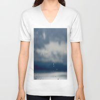 aperture V-neck T-shirts featuring The Sky Resting on Water by Jane Lacey Smith