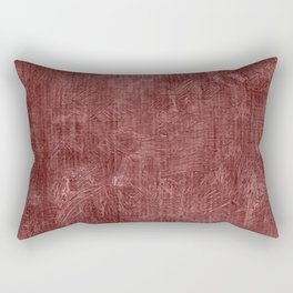 Marsala Oil Painting Color Accent Rectangular Pillow