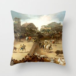 "Francisco Goya ""Bullfight in a Divided Ring"" Throw Pillow"