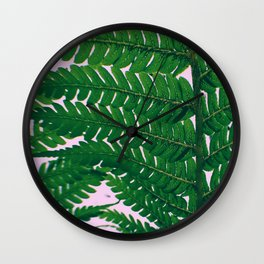 Fern Fronds Wall Clock