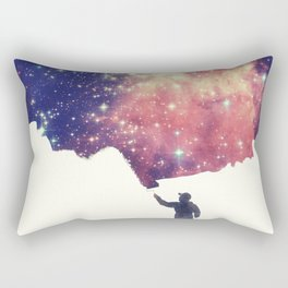 Painting the universe (Colorful Negative Space Art) Rectangular Pillow