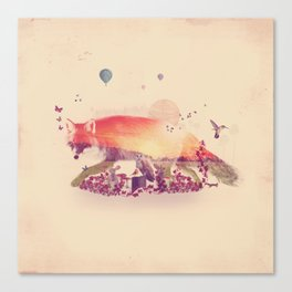 Woodlands Fox Canvas Print