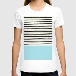 Sky Blue x Stripes T-shirt