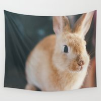 bunny Wall Tapestries featuring Bunny by Chelle Wootten