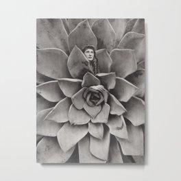 Succulent Woman Metal Print