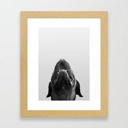 THE DOGUE monochrome Framed Art Print