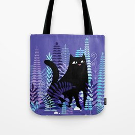 The Ferns (Black Cat Version) Tote Bag