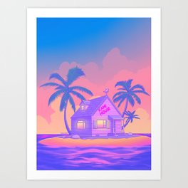 80s Kame House Art Print