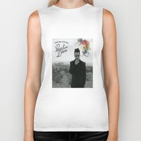 panic at the disco Biker Tanks featuring Panic! At The Disco Album Cover by marinasdiamonds