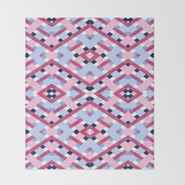 DEEP GEOMETRIC SHAPES Throw Blanket