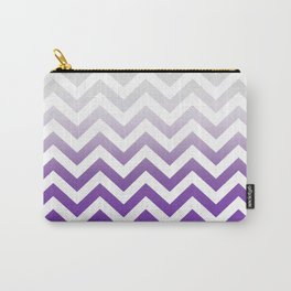 PURPLE FADE TO GREY CHEVRON Carry-All Pouch