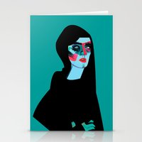 women Stationery Cards featuring Women by Zaneta Antosik