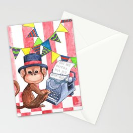 Not My Circus, Not My Monkeys Stationery Cards