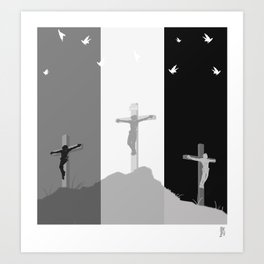 Ravens at the Cross Art Print