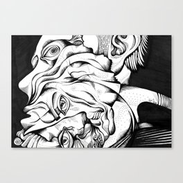 My two different faces Canvas Print