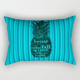 I would rather fall in love with a vegan - Carlton Lassiter quotes Rectangular Pillow