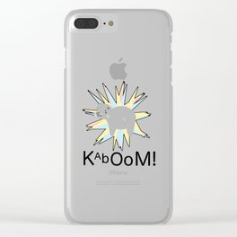Hippo Explosion Clear iPhone Case